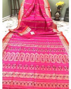 Bishnupuri Sonamukhi Gorod silk in Pink