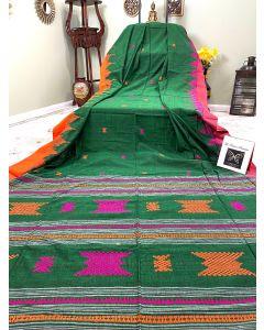 Cotton Bhujodi in Dark Green